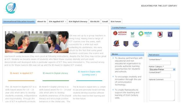 IEA homepage