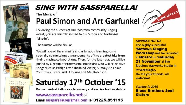 Sing with Sassparella Simon and Garfunkel